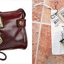 Frye Clover Clutch Wristlet - Bordeaux / Oxblood Leather Photo