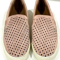 Frye & Co Peggy 8m Suede Leather Blush Pink Slip on Perforated Sneakers Shoe Photo