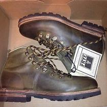 Frye Cobb Hiker Mens Olive Antique Leather Boots 10.5 Photo