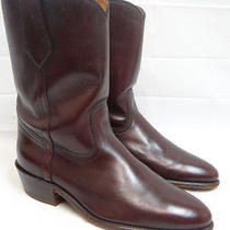 Frye Cognac Leather Mid Riding Boots- Sz 11 D Photo