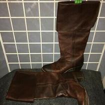 Frye Cuff-Top Brown Leather Upper Calf 17