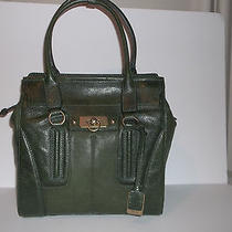 Frye Dana Double Handle Tote Dark Green Leather Nwt Retails 598.00 Photo