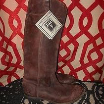 Frye  Distressed Leather Boots Brown Size 11 M Photo