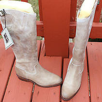 Frye Dorado Inside Zip Leather Taupe Antiqued Size 7 498 Photo