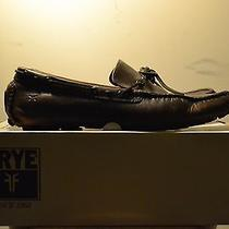 Frye Driver Loafer Russel Tie Antique Polished Cognac 11.5 Mens Photo