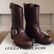 Frye Engineer 12r (7) Gaucho Boots Brown Women Leather Vogue Buckle M (6.5 6) Photo
