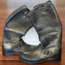 Frye for Coach Distressed Gold Boots Grunge Drama sz.6 (M) Nwob  Wow 498 Photo
