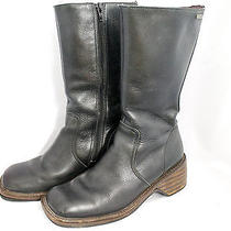 Frye Frenzy Zip Women's Sz 7.5 Black Leather Campus Boot Photo
