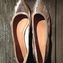 Frye Glitzy Copper Metallic Crackle Ballet Flats Sz 10.5 Pointed Toe Photo