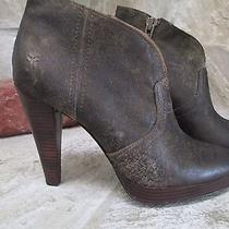 Frye Harlow Bootie Antique Distressed Brown 7.5 Photo