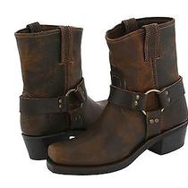 Frye Harness 8r W Boots - Tan Leather Photo
