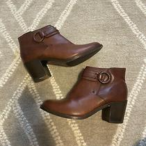 Frye Harness Heeled Booties Cognac Brown Size 8 Photo