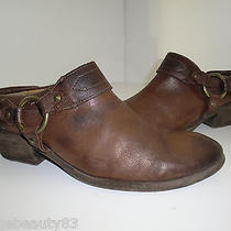 Frye Harness Western Cowboy Ankle Brown Leather Booties Boots 8.5 Photo
