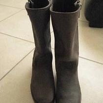 Frye Heat Outside Zip Boots Brown Waxed Suede Leather 7b Photo