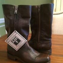 Frye Heath Outside Zip Leather Womens Boots Size 8 Photo