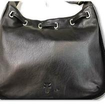 Frye Ilana Smooth Italian Leather Drawstring Crossbody Messenger Bag Black Nwt Photo