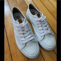 Frye Ivy Low Lace Sneakers White Leather Womens 7.5m New Photo