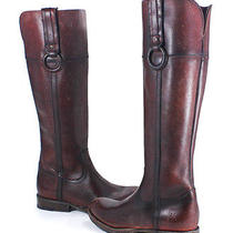 Frye Jamie Ring Tall Bordeaux Red Leather Knee High Boots Shoes 9.5 New Photo