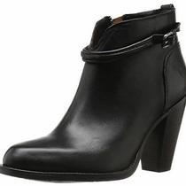 Frye Jenny Seam Short Bootie Black Leather Women' Size 6b 378 Photo
