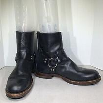 Frye John Addison Harness Back Zip Mens Sz 11m Black Leather Boots Xf3-108 Photo