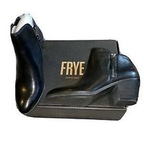 Frye Judith Zip Bootie Black Ankle Boots Womens 6.5 Photo