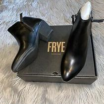 Frye Judith Zip Bootie Black Ankle Boots Womens 8 Photo
