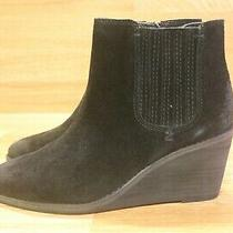 Frye Kaye Women's Black Chelsea Wedge Booties Sz 8.5 M (C-168) Photo
