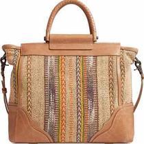 Frye Large Riviana Leather Tote Bag Tan/multi New Photo