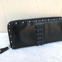 Frye Leather Micro Studded Leather Zipper Wallet  Photo