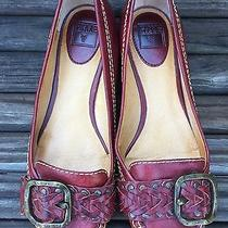 Frye Leather Moccasins Shoes Size 7.5 Ruby Photo