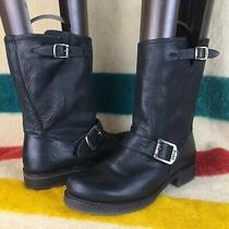 Frye Leather Veronica Short Black Slouch Ankle Boots Sz 7 B Photo