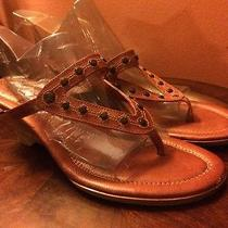 Frye Lee Leather Studded Wedge Heels Sandals Slides Shoes Size 9.5 M Photo