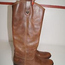 Frye Light Brown Leather Calf Length Riding / Western Boot 77168 12 8.5 B1471 Photo