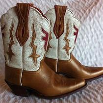 Frye Lily Antique Gold Cowboy Cowgirl Boots  6b Photo
