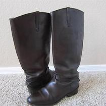 Frye Lindsay Plate Leather Riding Boots Brown Sz 8.5 Photo