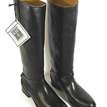Frye Lindsay Plate Riding Harness Boots Black Color Size 6 Photo