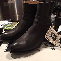 Frye Lindsay Plate Short Boot - Size 8 Antique Black Photo