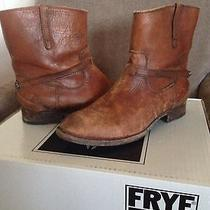 Frye Lindsay Plate Short Boots 7.5 Cognac Photo