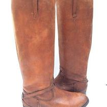 Frye Lindsay Plate Womens Fawn Leather Western Boots Size 6b Photo