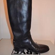 Frye Lindsey Plate Tall Riding Boots 76976 Women's 7.5 Black Photo