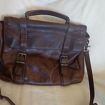 Frye Logan Antique Leather Flap Briefcase  Photo