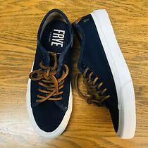 Frye Ludlow Mens Canvas Lace Up Low Top Sneaker Shoes Navy Blue Nwob Size 8.5 Photo