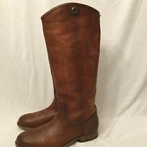 Frye Melissa Button 2 Riding Boot Size 7.5b Cognac (98) Photo