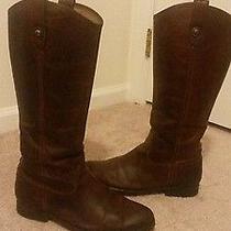 Frye Melissa Button Boot  Cognac Leather  8.5 Photo