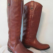 Frye Melissa Button Boot Riding Equestrian Brown Leather Tall Cowboy 7 B Nwob Photo