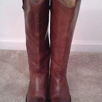 Frye Melissa Button Cognac Leather Boot 7 Photo