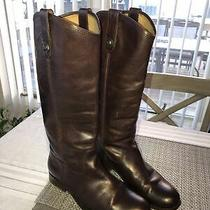 Frye Melissa Button Dark Brown Leather 77153 Tall Riding Sz 8 Boots 368 Photo