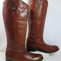 Frye Melissa Button Leather Pull on Tall Western Riding Boots Brown Sz 10b Euc Photo