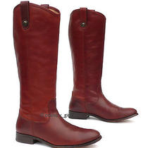 Frye Melissa Button Riding Boots 77167  Gorgeous Cognac Leather  9 B  Euc Photo