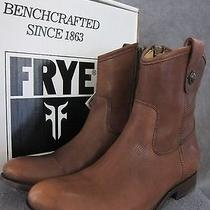 Frye Melissa Button Shortie Soft Leather Boots Shoes Mismatch Us L 8  R 8.5 Nwb Photo